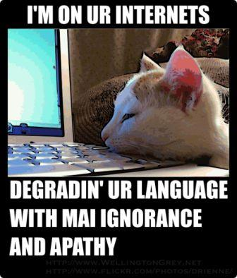 Post image for The Story of English and LOLcats