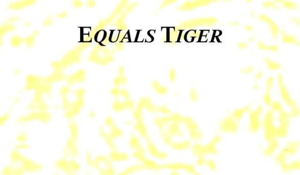 Post image for Eric Kocher&#8217;s <em>Equals Tiger</em>
